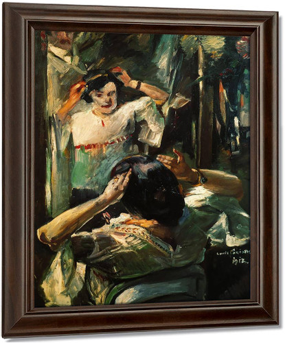 At The Mirror By Lovis Corinth Oil on Canvas Reproduction