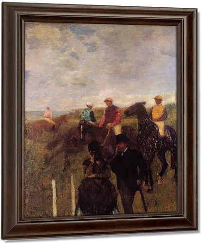 At The Races By Edgar Degas