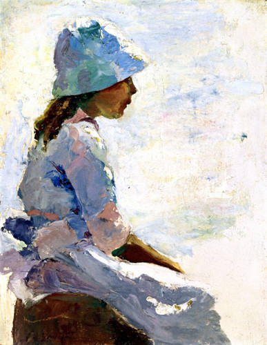 At The Seaside By Charles W. Hawthorne
