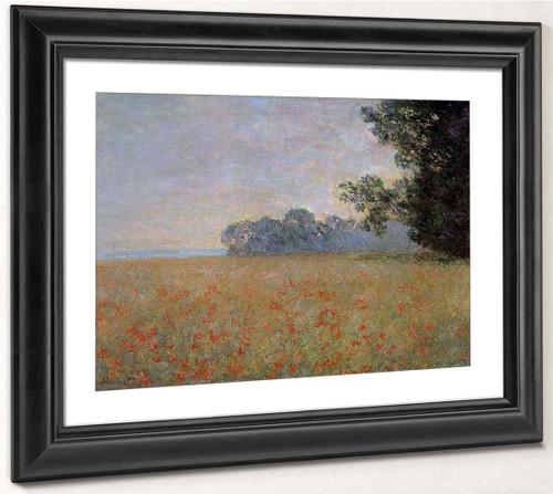 Oat And Poppy Field By Claude Oscar Monet
