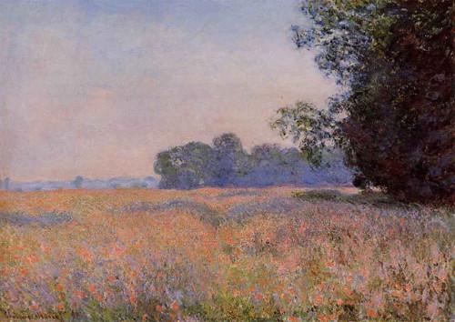 Oat Field By Claude Oscar Monet
