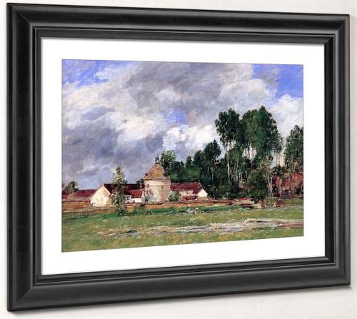 Oiseme, Landscape Near Chartres By Eugene Louis Boudin By Eugene Louis Boudin