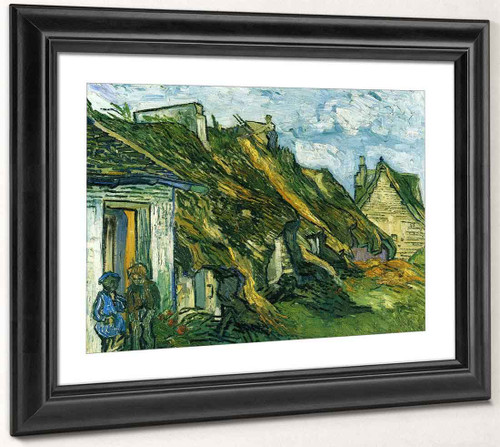 Old Cottages, Chaponval By Vincent Van Gogh