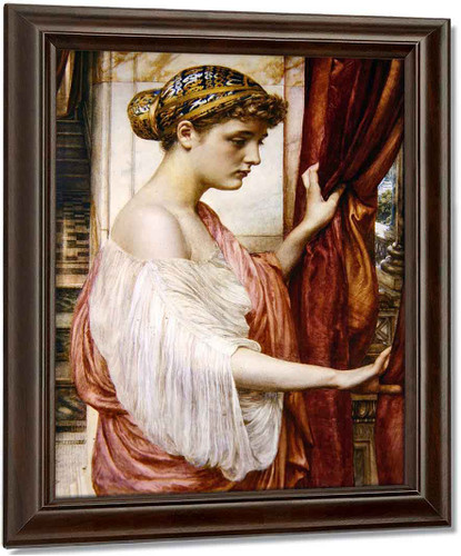 At The Window By Sir Edward John Poynter Oil on Canvas Reproduction
