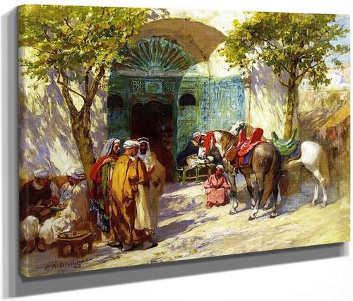 Outside The Mosque By Frederick Arthur Bridgman