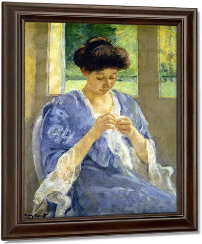 Augusta Sewing Before A Window By Mary Cassatt