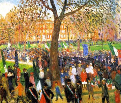 Parade, Washington Square By William James Glackens  By William James Glackens