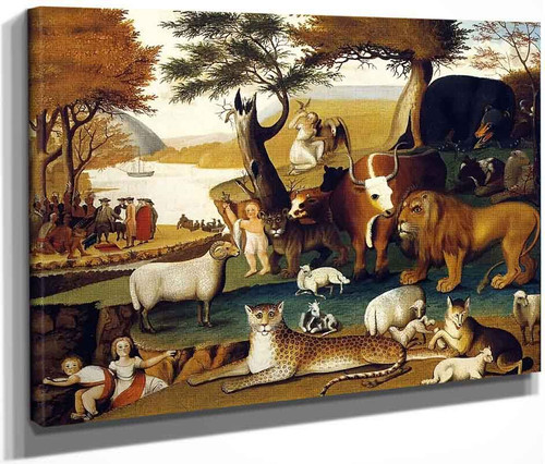 Peaceable Kingdom With The Leopard Of Serenity By Edward Hicks
