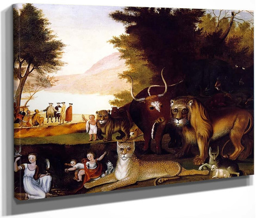 Peaceable Kingdom12 By Edward Hicks