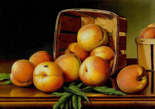 Peaches In A Basket By Levi Wells Prentice By Levi Wells Prentice