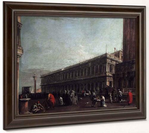 Piazzetta With The Libreria Vecchia By Francesco Guardi