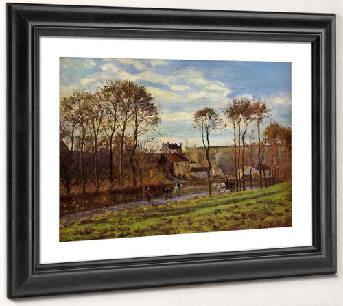 Pontoise, Les Mathurins By Camille Pissarro By Camille Pissarro