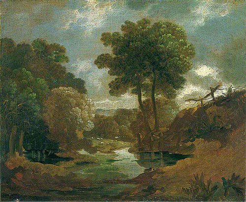 Pool In The Woods By Thomas Gainsborough  By Thomas Gainsborough