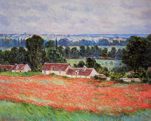 Poppy Field At Giverny By Claude Oscar Monet