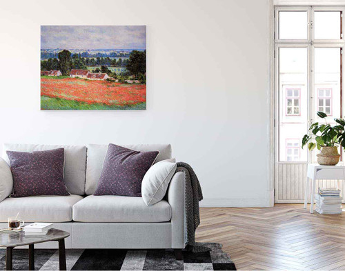 Poppy Field At Giverny By Claude Oscar Monet