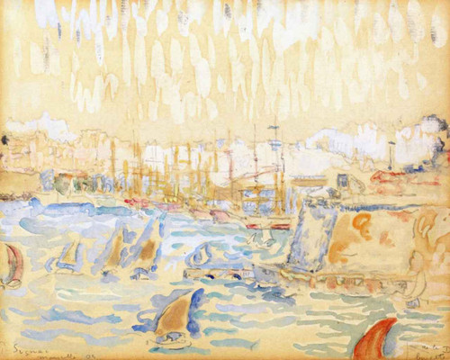 Port Of Marseille By Paul Signac