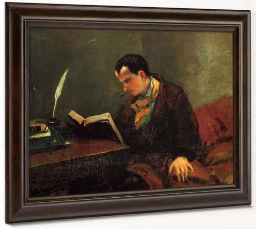 Portrait Of Baudelaire By Gustave Courbet By Gustave Courbet