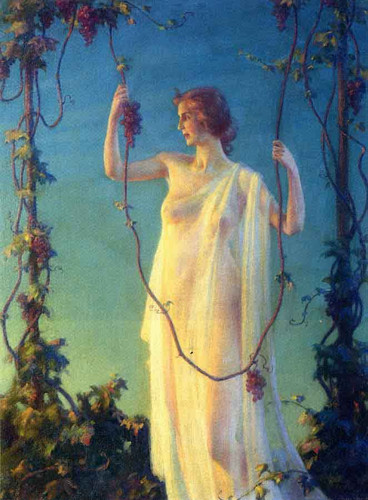 Autumn By Charles Courtney Curran By Charles Courtney Curran