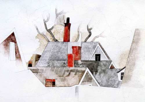 Red Chimneys By Charles Demuth By Charles Demuth