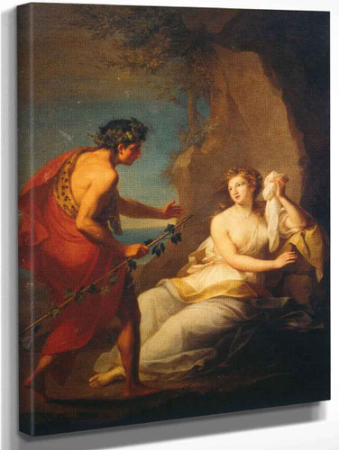 Bacchus Discovering The Sleeping Ariadne On Naxos By Angelica Kauffmann By Angelica Kauffmann
