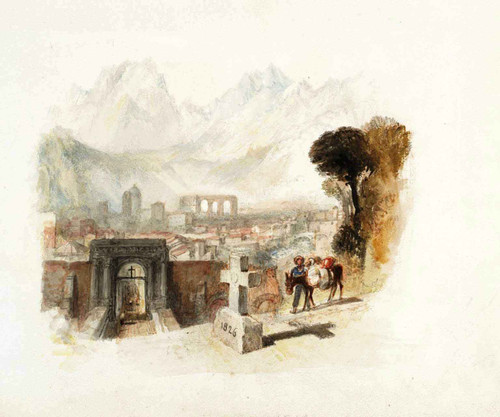 Rogers's 'Italy' Aosta By Joseph Mallord William Turner