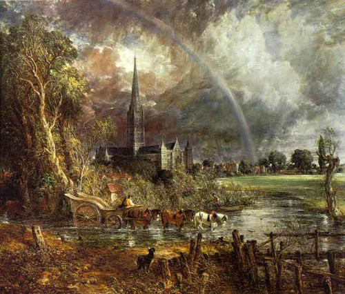 Salisbury Cathedral From The Meadows7 By John Constable By John Constable
