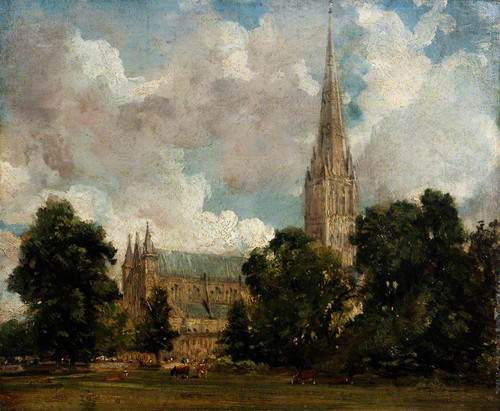 Salisbury Cathedral From The South West By John Constable By John Constable
