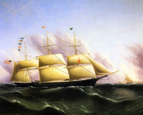 Ship Dreadnought By James E. Buttersworth By James E. Buttersworth
