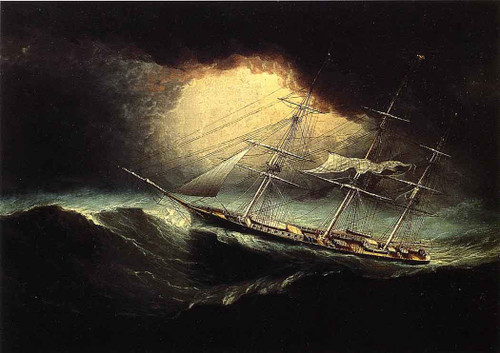 Ship In A Storm By James E. Buttersworth By James E. Buttersworth