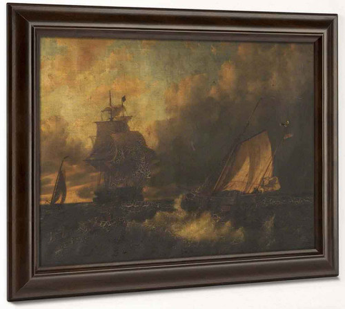 Ships At Sea By Edward William Cooke, R.A.