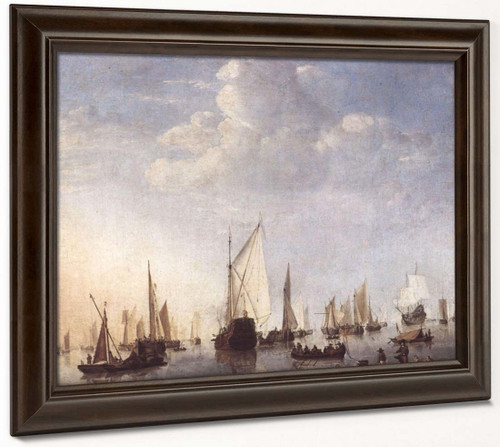 Ships In The Roads By Willem Van De Velde The Younger