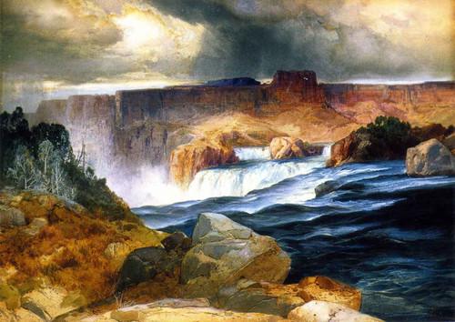 Shoshone Falls, Snake River, Idaho By Thomas Moran By Thomas Moran
