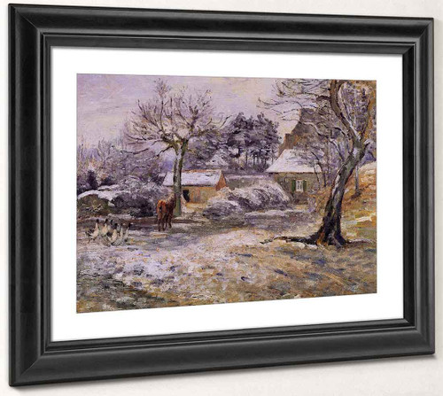 Snow At Montfoucault By Camille Pissarro By Camille Pissarro