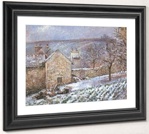 Snow At The Hermitage, Pontoise By Camille Pissarro By Camille Pissarro