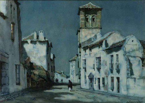 Spanish Village By Albert Moulton Foweraker