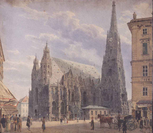 St. Stephen's Cathedral In Vienna1 By Rudolf Von Alt