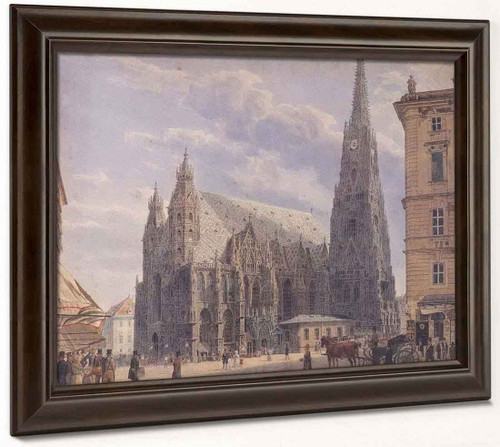 St. Stephen's Cathedral In Vienna1 By Rudolf Von Alt