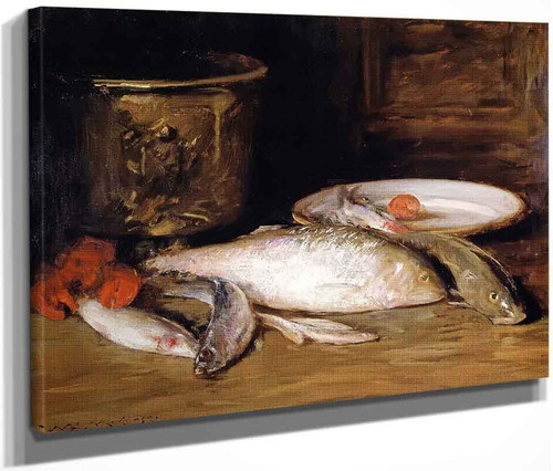 Still Life Fish By William Merritt Chase By William Merritt Chase