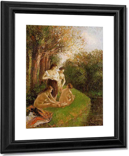Bathers By Camille Pissarro