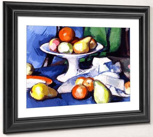Still Life Of Fruit By Samuel John Peploe