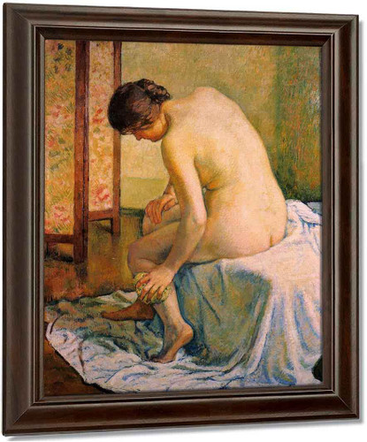 Bather By Theo Van Rysselberghe Oil on Canvas Reproduction