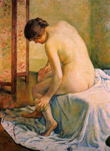 Bather By Theo Van Rysselberghe