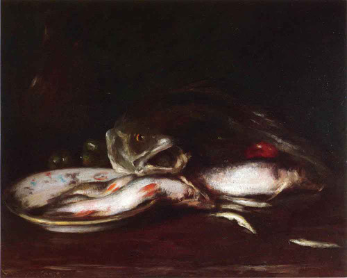 Still Life With Fish 2 By William Merritt Chase By William Merritt Chase