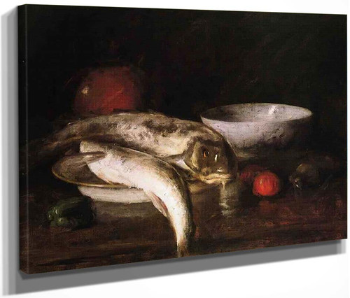 Still Life With Fish 3 By William Merritt Chase By William Merritt Chase