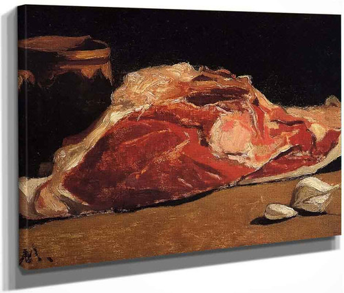 Still Life With Meat By Claude Oscar Monet
