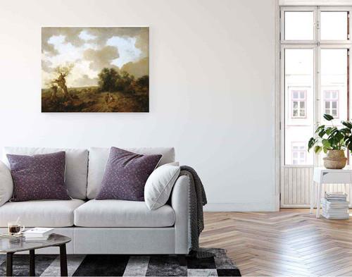 Suffolk Landscape By Thomas Gainsborough  By Thomas Gainsborough
