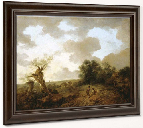 Suffolk Landscape By Thomas Gainsborough  By Thomas Gainsborough