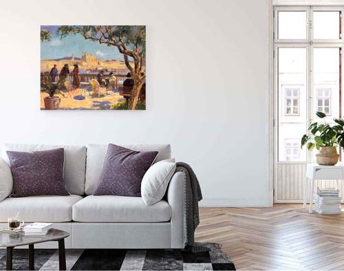 Sunlit Terrace By Bernhard Gutmann