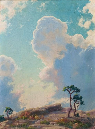 Beginning Of Shower By Charles Courtney Curran By Charles Courtney Curran