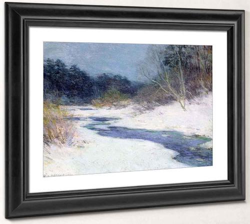 Thawing Brook  By Willard Leroy Metcalf By Willard Leroy Metcalf